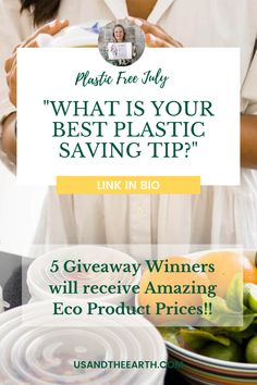 This Plastic Free July will be jam-packed with incredible gifts, all with the goal of inspiring everyone to dig deep and make some positive adjustments and substitutions in order to live a more aware life! We're giving away Us and the Earth products to five lucky winners ! 1.Like tour give away post and Follow @us.and.the.earth 2. Tag 3 friends in this post 3. Subscribe to our newsletter. 4. Lastly, go to our Instagram profile, click on our bitly link answer the question Plastic Free July, Earth 2, Incredible Gifts, 3 Friends, Dig Deep, Eco Friendly House, Zero Waste, Saving Tips, Food Storage