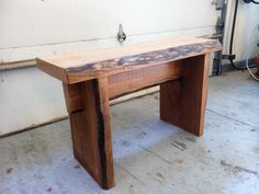 live edge american cherry bench  my first bench