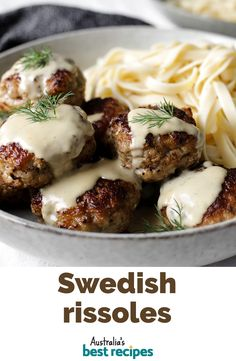 Swedish rissoles Swedish meatballs are rightly famous, but why make them bite-size when you can upsize to rissoles? Serve with a creamy sauce and pasta. Minced Beef Recipes, Veal Recipes, Mince Recipes, Cooking Recipes, Healthy Recipes, Recipes Dinner, Pasta Recipes, Yummy Recipes, Dinner Ideas