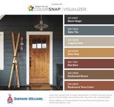 Ideas for bathroom brown tile color palettes living rooms Exterior Color Palette, Exterior Paint Colors, Exterior House Colors, Paint Colors For Home, Fall Paint Colors, House Paint Exterior, Interior And Exterior, Interior Paint, Terra Cotta Paint Color