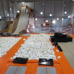 Big jump, trampolin,foam pit, artistic gymnastic floor for training all year