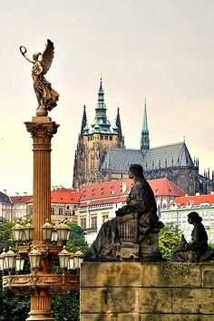 View from Rudolfinum to Prague castle.