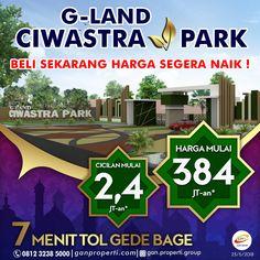 Hunian Asri Dekat Kota Metropolis GEDEBAGE Hanya 7 Menit dari Tol Gedebage! BOOKING G-Land Ciwastra Park SEKARANG! ---------------------------- Cicilan Mulai 2,4 Jutaan! (Free Biaya KPR, BPHTB, AJB, SHM) ---------------------------- + 20 Menit TRANS STUDIO BANDUNG + Dekat KAWASAN PENDIDIKAN + Dekat KAWASAN NIAGA ---------------------------- Info hubungi SEGERA 0812 3238 5000 (Telp/WA) Pricelist download di www.ganproperti.com  #house #rumahnyaman #properti #perumahan #property…