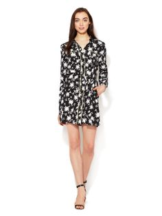 Printed Silk Shirtdress by The Letter at Gilt