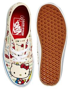 1e719a503421c6 Image 3 of Vans Authentic Hello Kitty Trainers Hello Kitty Vans