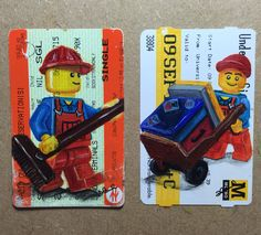 Some new ones in my Lego train ticket series.. Swept Away & Bust Day