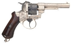 Engraved LeFaucheux Pinfire Revolver 9 mm RF