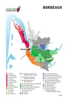 Bordeaux wine map fermentedgrape.com