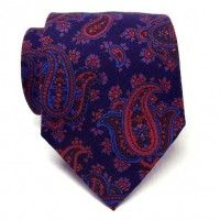 Atkinsons Ancient Madder Necktie - Paisley (Nvy1) 805-21