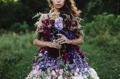 Precioso Vestido hecho con Flores - Vestidos Mania