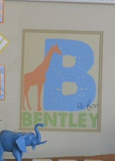 B is for BOY. Jungle animal theme, baby shower