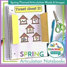 Overcome the challenges of mixed groups with fun Spring Articulation Activities for Notebooks. Each student can work on the same pages even if their target goals are different. Teaching Vocabulary, Teaching Grammar, Teaching Kindergarten, Teaching Ideas, Articulation Activities, Speech Therapy Activities, Language Activities, Speech Language Pathology, Speech And Language