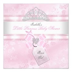 Pretty Baby Shower Girl Little Princess Damask 3