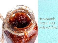 Homemade fresh figs marmalade
