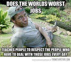 Good Guy Mike Rowe…I might not agree with all of his politics, but I appreciate how his show gave respect to blue collar workers...Loved Dirty Jobs!