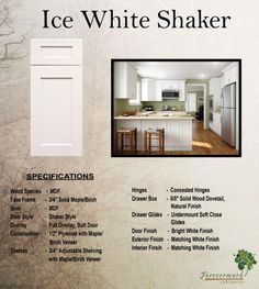 Ice White Shaker Cabinets   Google Search