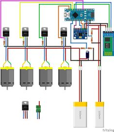 Picture of Circuit Diagram Pi Projects, Engineering Projects, Engineering Science, Electronic Circuit Projects, Electronic Engineering, Electronics Basics, Electronics Projects, Arduino Micro, Arduino Quadcopter
