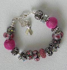 Handmade European Charm Bead Awareness by bdzzledbeadedjewelry, $42.00