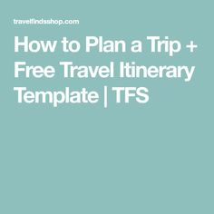 Itinerary Templates Free Microsoft Word Documents Download