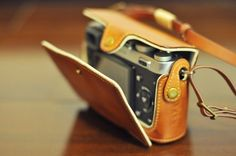Cow leather case for Fujifilm X100 include leather full case and leather strap