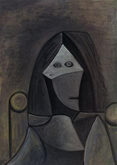 Portrait de femme au fauteuil - Picasso - 1944