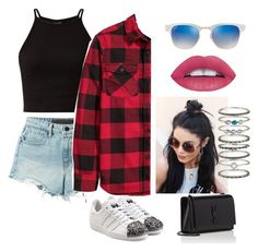 """""""Untitled #97"""" by i-love-modas on Polyvore featuring T By Alexander Wang, H&M, adidas Originals, Ray-Ban, Accessorize and Yves Saint Laurent"""