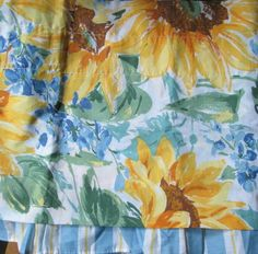LOVELY SUNFLOWER DREAM BLOUSON VALANCE SUNFLOWERS