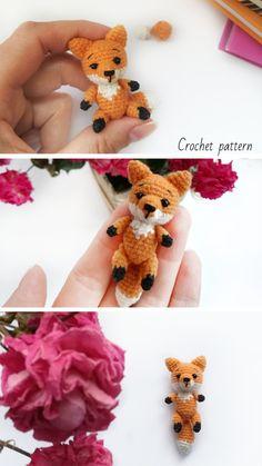 Crochet pattern fox #crochetfox #amigurumifox #crochetpattern