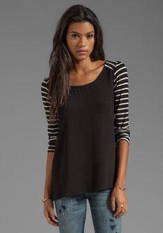 Colorblock Top in Black  #fall #fashion