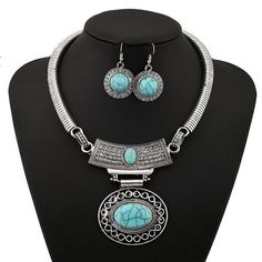FREE jewelry statement vintage bohemian set in turquoise, black or white.   YOU ONLY PAY FOR SHIPPING. Offers apply while stocks last.  https://goodfeelingstuff.com/products/lovbeafas-2017-fashion-vintage-necklace-earrings-jewelry-sets-collares-maxi-choker-statement-necklaces-pendants-women-jewelry