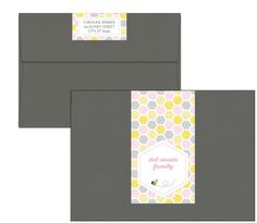 Bee-autifull Honeycomb Wrap-Around Address Labels for a Mommy to Bee Baby Shower - Digital PDF or JPG File to print as many as you'd like!