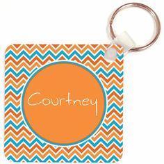 Aqua Orange Key Chain