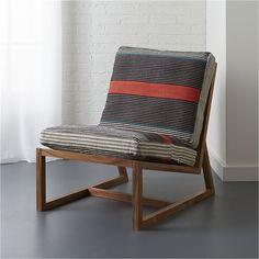 sidi lounge chair with cushions   CB2