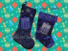 Doctor Who TARDIS Christmas Stocking limited quantity holiday