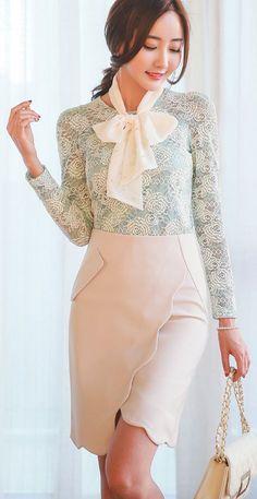 StyleOnme_Wavy Line Romantic Skirt #skirt #wavy #miniskirt
