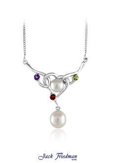 Fresh water pearl drop set in silver with gemstones jackfriedman.co.za Water Pearls, Pearl Set, Pearl Jewelry, Fresh Water, Beautiful Things, Pendants, Necklaces, Drop, Jewellery