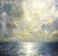 'Moonlight on the Kattegat' by Emil Carlsen, Danish-born American Impressionist painter, 1853-1932