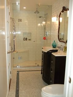 Note the painted brick on the wall behind the vanity.