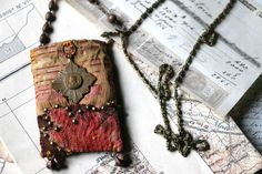 textile pendant Jeanne d'Arc by frenchmanufacture on Etsy