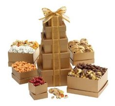 Broadway Basketeers Happy Birthday Gift Tower of Sweets,$36.95
