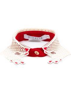 Vivetta 'Platano' macramé lace collar