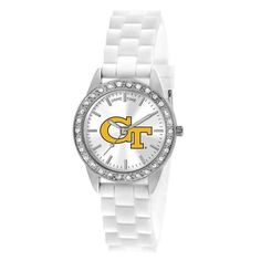Georgia Tech GT Ladies White Fashion Watch