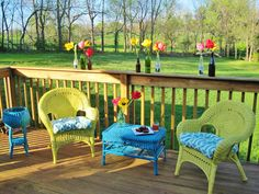 Painted Wicker Furniture 10