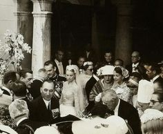 April 21, 1956 - Wedding reception of Princess Grace of Monaco & Prince Rainier Andrea Casiraghi, Charlotte Casiraghi, Prince Rainier, Beatrice Borromeo, Grace Kelly Wedding, Albert Von Monaco, Kelly Monaco, Rainy Wedding, Royal Families