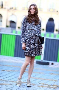 Caroline Brasch Nielsen, Mixed Animals   Street Fashion   Street Peeper   Global Street Fashion and Street Style