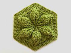 Embossed Crochet Hexagon