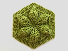 Embossed Crochet Hexagon - http://bonitapatternsblog.com/2017/03/14/learn-embossed-crochet/