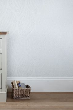 Buy Waves White Wallpaper from the Next UK online shop