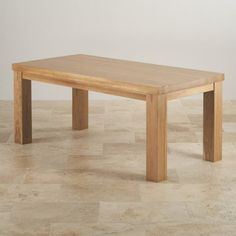 Contemporary Chunky 6ft X 3ft Natural Solid Oak Dining Table