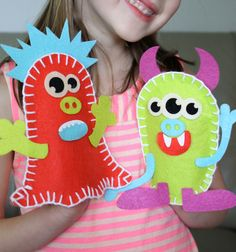 Build A Monster Felt Puppet with your Silhouette by The Art In Martha